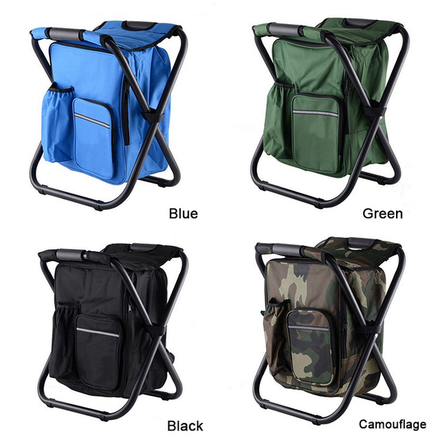 fishing cooler chair oval back dining side aliexpress com buy outdoor folding portable stool ice cold bag backpack storage leisure travel hiking camping beach picnic