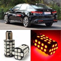 Brand New Red BAY15D Auto Tail Stop Brake Light 5050 48 SMD LED Bulbs For Kia K5