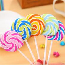 30pcs/lot Cute Kawaii Cartoon Lollipop Rubber ribbing Erasers for Kids Lovely Creative Stationery Gift