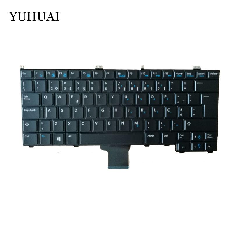 New Portuguese Keyboard For Dell Latitude E7440 E7240 Black 0JYFTN Laptop PO Keyboard laptop keyboard for dell latitude d410 black with pointing po portugal 9j n3582 l04 nsk d4l04