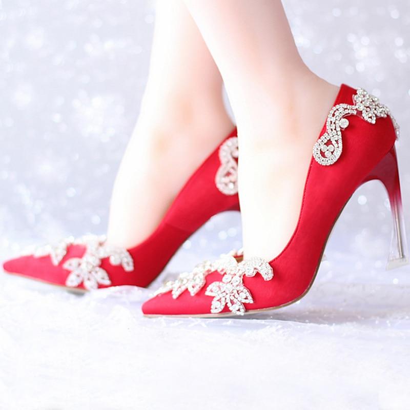 New fashion women 39 s high heels wedding shoes bridal for Heels for wedding dress