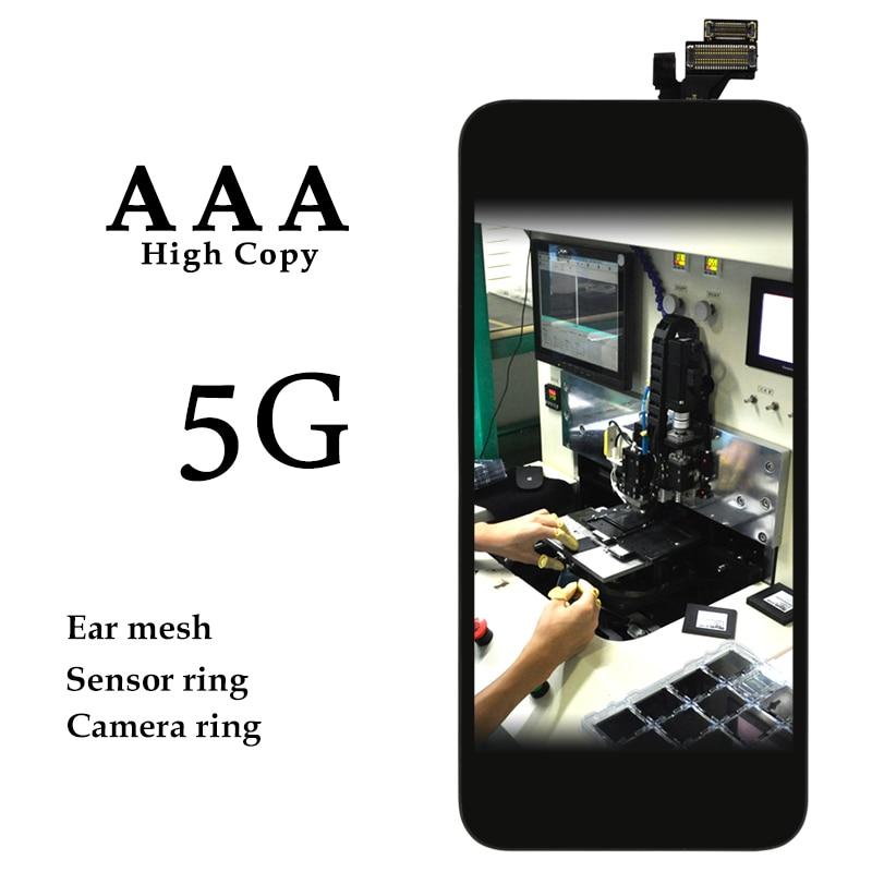 imágenes para 10 UNIDS Top Quanlity Para el iphone 5g LCD Pantalla Táctil Con Digitalizador de Reemplazo Asamblea Parts Blanco/Negro envío Gratis