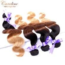 Top Quality 8A Brazilian Virgin Hair Body Wave 4 Bundles 3 Tone Ombre Brazilian Body Wave Hair T1B/33/27# Stema Hair Company