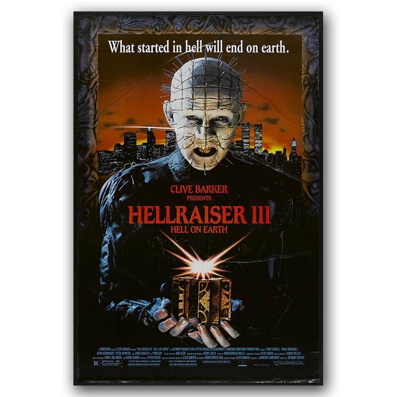 Hellraiser Classic Horror Movie Art Canvas Poster Prints 8x12 24x36 inch
