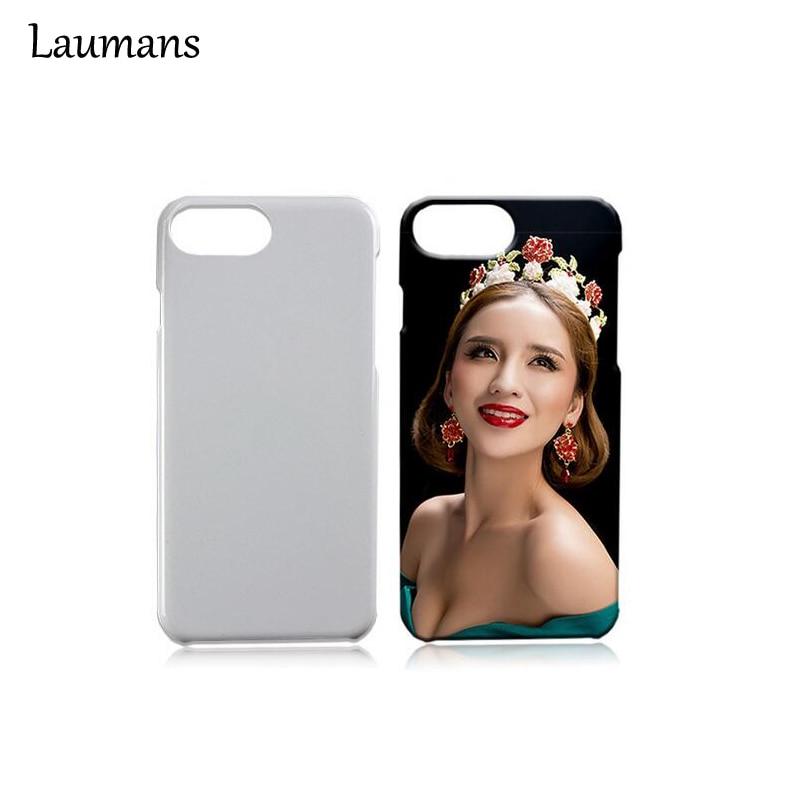 imágenes para Laumans 50 unids Smooth 3D Caso Para el iphone 6 Mate de transferencia de Calor Blanco en blanco Sublimación Casos Cubierta Del Teléfono Para el iphone 6 6 s plus 7