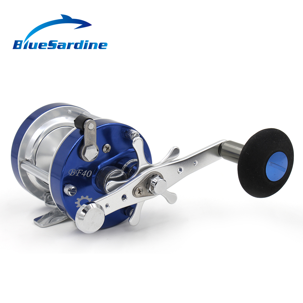 6+1BB 5.2:1 Right Hand Baitcasting Reel Drum Boat Trolling Bait Casting Reels Sea Fishing Tackle metal round jigging reel 6 1 bearing saltwater trolling drum reels right hand fishing sea coil baitcasting reel