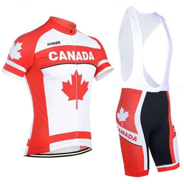 the latest ff679 d598d US $23.62 36% di SCONTO|Team canada mens di estate quick dry Ciclismo  maglie Canadese bandiera traspirante bike MTB abbigliamento Ropa ciclismo  ...