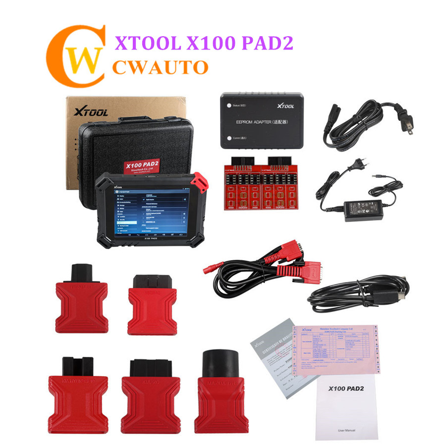 X100 PAD XTOOL PAD2 Tablet Key Programmer With EEPROM Adapter XTOOL PAD 2 Update Version X100