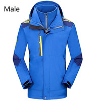 Autumn winter outdoor stormtrooper suit two sets of men and women's thick warm and windproof couple mountaineering suit