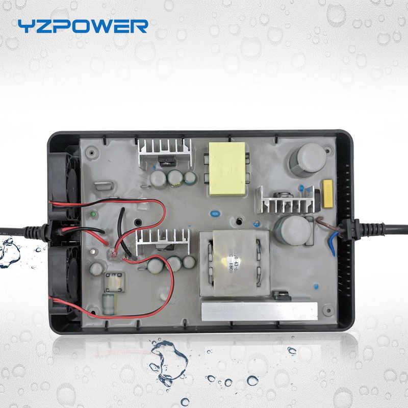 YZPOWER Auto-Stop 84 v 4A 3.5A 3A Pin Lithium Không Thấm Nước Sạc Cho 72 v E-bike Thông Minh công cụ Tùy Chỉnh cắm