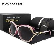HDCRAFTER Luxury Brand Polarized Sunglasses Women Designer Cat Eye Sun Glasses for oculos de sol with Original Box