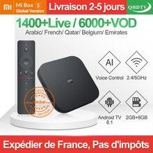 IPTV France Xiaomi Mi Box S Android TV 8.1 QHDTV IPTV Box 2G 8G WIFI Google Cast 1 Year IPTV French Arabic IP TV France