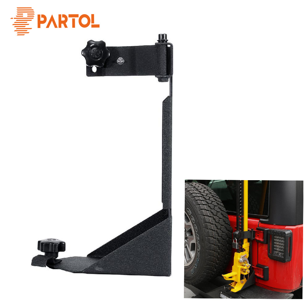 Partol Car Hood Mount Bracket Shovel Holder Off Road High Lift Jack Mount For Jeep Wrangler JK 2007 2008 2009 2010 2017-in Universal Car Bracket from Automobiles & Motorcycles    1