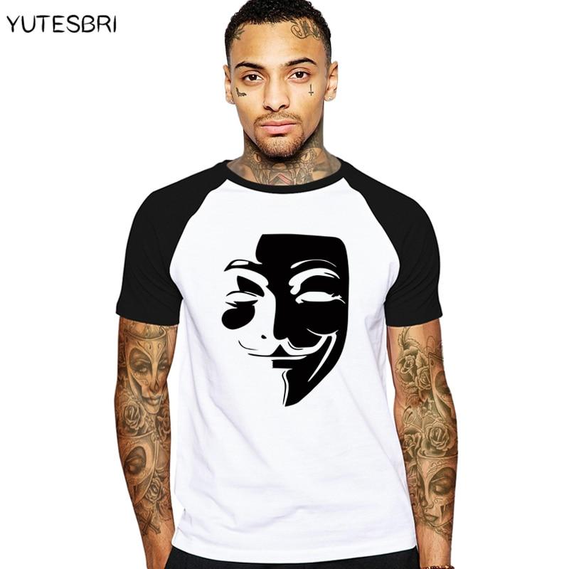 V Wie Vendetta T-Shirt Anonymous Guy Fawkes Maske Männer Baumwolle T Shirts lustige Casual t-shirt Swag harajuku Tops Männlich Tees t-shirts