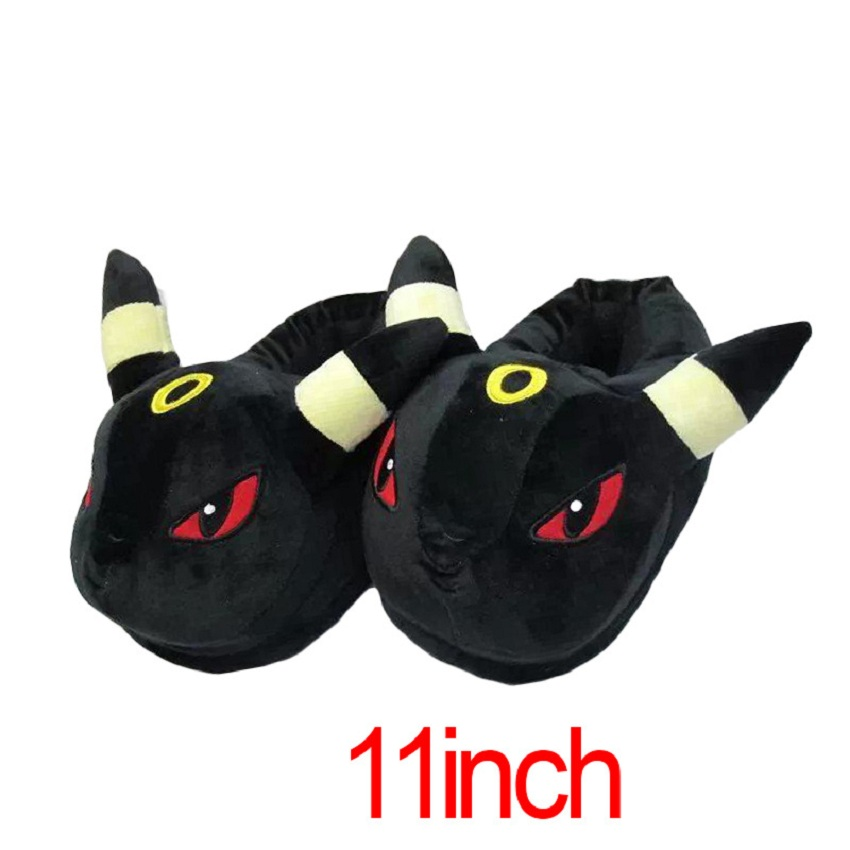 2016 New Ankle Warm Pokemon Slippers Short Plush slipper For Women Winter Thicken Artificial Plus Size