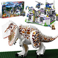 Горячая фильм Миру Юрского динозавров Парк база Tyrannosaurus Rex уйти building block совместимые. legoeinglys игрушки для детей подарки
