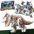 Hot película Parque Jurásico dinosaurio Mundo base Tyrannosaurus Rex salirse building block compatible. legoeinglys juguetes para regalos de los niños