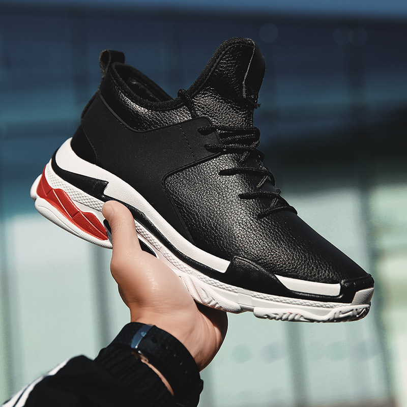 Slip Peu Boucle Profonde Air Décontractées Sneakers Solide Chaussures blanc Hommes Sangle sur D'hiver Mesh Garçons Vulcaniser Noir Respirant Microfibre Mode wgxrF41w