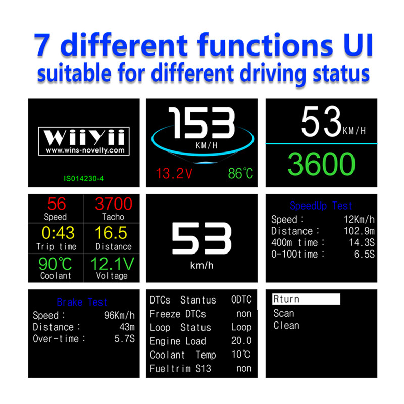 Image 2 - GEYIREN OBD II P10 GPS T600 Auto On board Computer Display Car Digital OBD Driving LED Display HUD head up display For any cars-in Head-up Display from Automobiles & Motorcycles