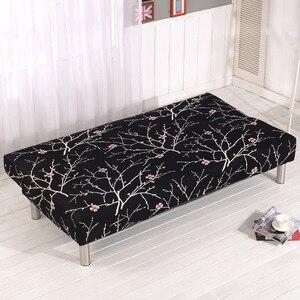Image 5 - أسود شامل غطاء أريكة دنة سرير أريكة قابلة للطي غطاء أغطية أريكة منشفة لغرفة المعيشة armless غطاء أريكة