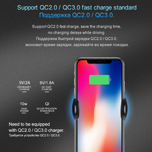 HOCO 2 in 1 Qi Wirelss Charger Fast Charging for iPhone X 7 8 Car Phone Holder Air Vent Mount Stand for Samsung Galaxy S8 Plus