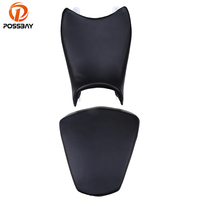 POSSBAY Black Motorcycle Front Rear Passengers Seat Cover Scooter Seat Cushion Pillion Universal for KTM 390 Motorbike Seats