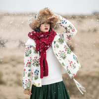 IRINAW751 new arrival 2018 vintage embroidered winter jacket women