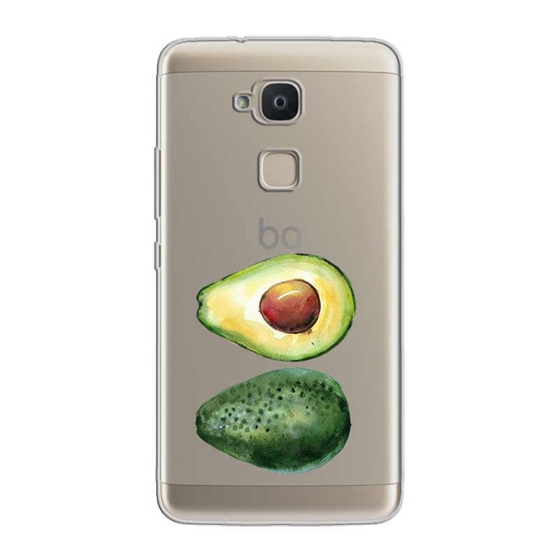 Ciciber Buah Alpukat Ponsel Case Funda untuk BQ Aquaris X V Vs C U2 U X2 X5 Plus Lite Pro lembut TPU untuk BQ M5 E5s M5.5 M FHD Cover