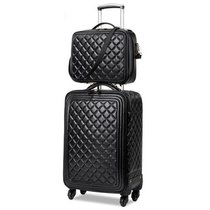 Travel Tale High Quality Fashion 16/20/24 Size 100%PU Rolling Luggage Spinner Brand Travel Suitcase