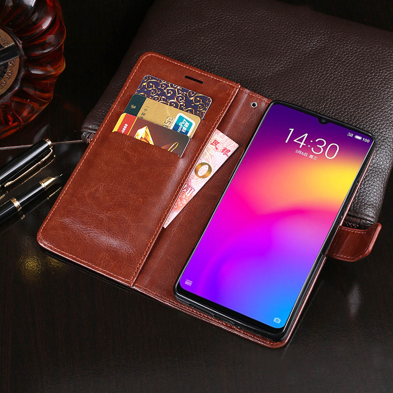 Meizu Note 9 Case Business PU Leather Wallet Cover For Meizu Note9 Flip Case Anti-knock Phone Cover