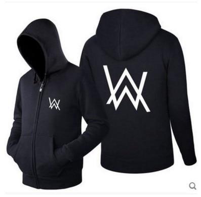 Alan Walker DJ hip hop men women thick velvet warm hoodies sweatshirt zipper tracksuits outwear coat