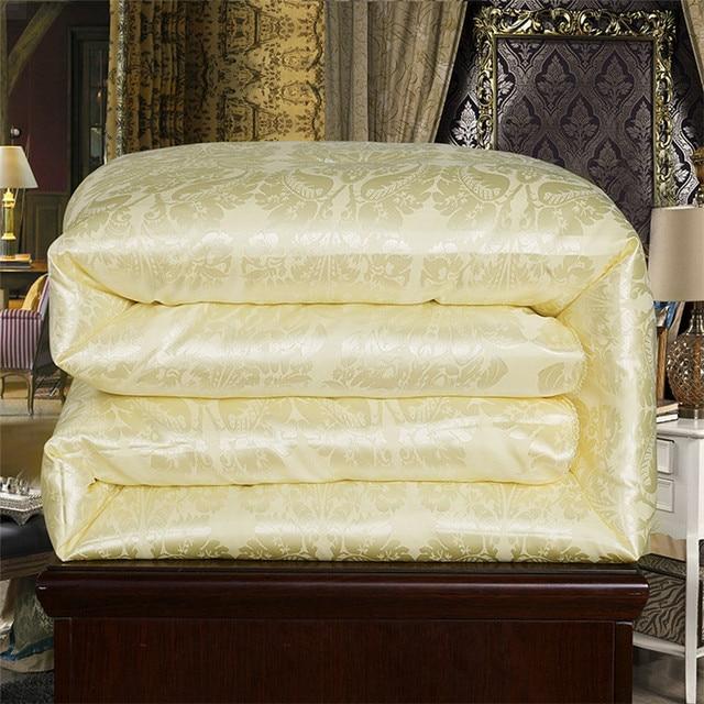 Постельные принадлежности ручной работы 100% натуральный/одеяло из шелка тутового шелкопряда для зимы/лета двойной королева король полный р...
