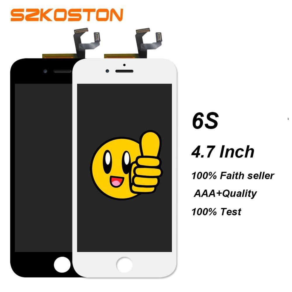 Dhl 5 ps grado aaa 4.7 pulgadas lcd para iphone 6s piezas del teléfono móvil de
