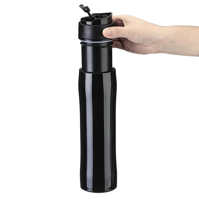 5cf5ed8437a Self-lock Portable Insulation French Press Leak Proof Coffee Bottle Syphon  Pots Moka Pots Water Bottle Vacuum Cup Travel Hiking