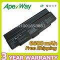 Apexway Black 9cell 6600mAh Battery VGP BPS9 BPS10 BPL9 BPL10 VGP-BPS9/S For Sony VAIO VGN-AR71J VGN-CR13/B VGN-CR20 VGN-CR90S
