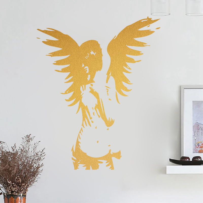 ANGEL wall sticker giant banksy guardian bedroom decal vinyl Wall ...