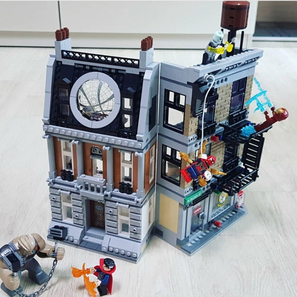 Avengers Marvel DC Super Hero Sanctum Sanctorum Showdown Building Blocks Bricks Toys Compatible Legoings Thanos 76108 super hero marvel lady sif thor hela valkyrja figure bruce banner berserker mandarin red skull building blocks single sale toys