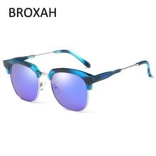 Fashion Polarized Sunglasses Men Women Brand Designer Driving Sun Glasses Semi-Rimless Frame Shades UV400 Lunette De Soleil