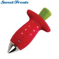 Sweettreats Erdbeere Huller Erdbeere Corer Erdbeere/Tomate Stem Remover mit Edelstahl Klaue