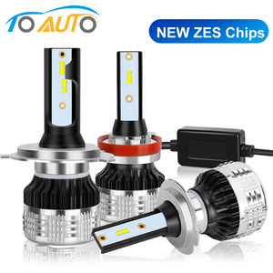 Image 1 - 2pcs Car Lights LED H1 H3 H4 H7 H8 H11 HB3 9005 HB4 9006 H27 880 881 9012 LED Bulb with ZES Chips 15000LM 6000K Auto Lamp 12V