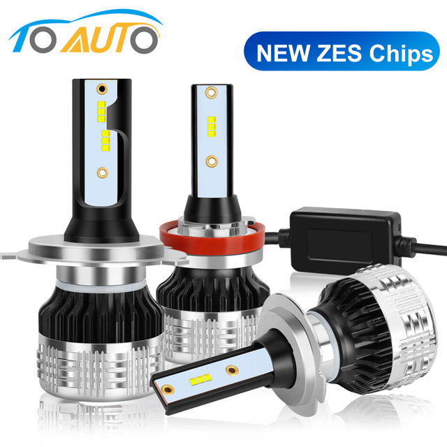 2pcs Car Lights LED H1 H3 H4 H7 H8 H11 HB3 9005 HB4 9006 H27 880 881 9012 LED Bulb with ZES Chips 15000LM 6000K Auto Lamp 12V