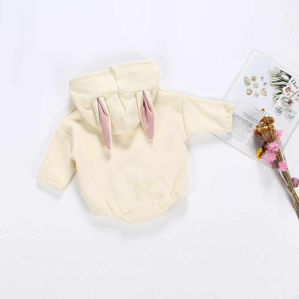 Todder Kid Baby Girl Boy Rabbit Sweatshirt Winter Tops Romper Pullover Bodysuit