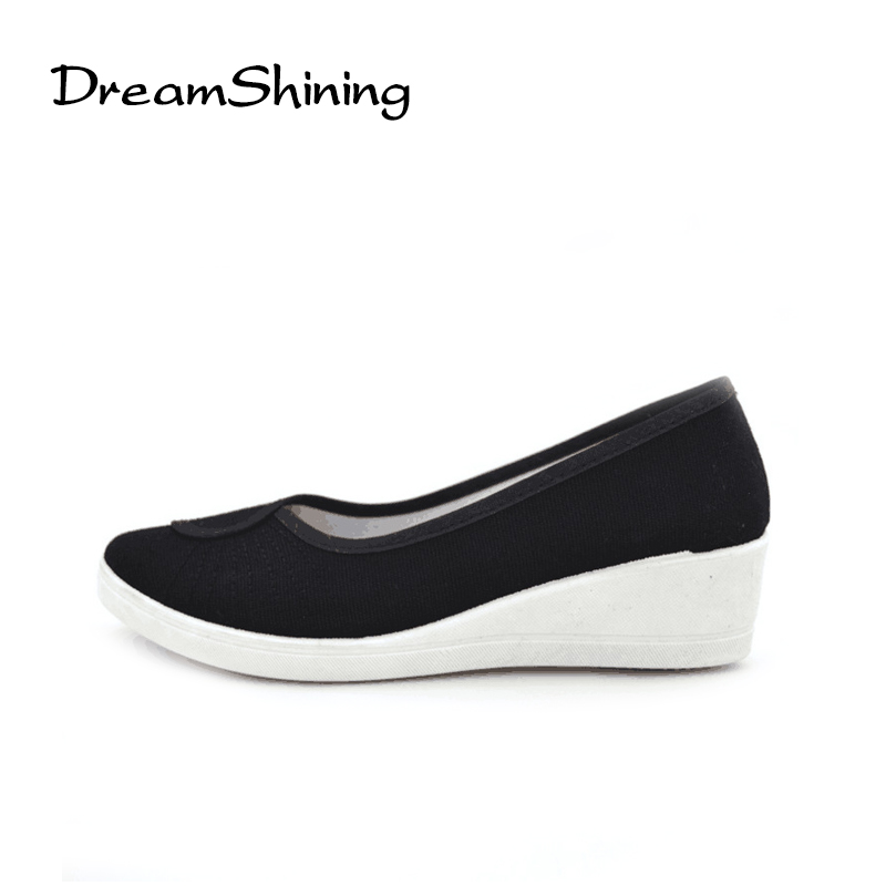DreamShining Women Shoe Fashion Woman Spring Nurse Shoes Work Shoes Tendon Bottom Beauty Salon Hospital Dance Canvas Shoes недорого