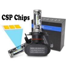S1 H7 LED Headlight 12v 24v 50w Use CSP Chips LED Car Headlight Bulb 6500K Fanless