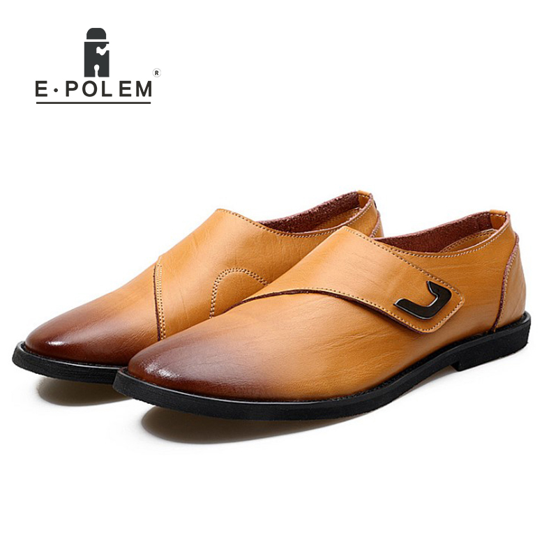 Spring Autumn Men Business Casual Genuine Leather Breathable Men Shoes Han Style Fashion Men Waterproof Low Upper Slip On Shoes