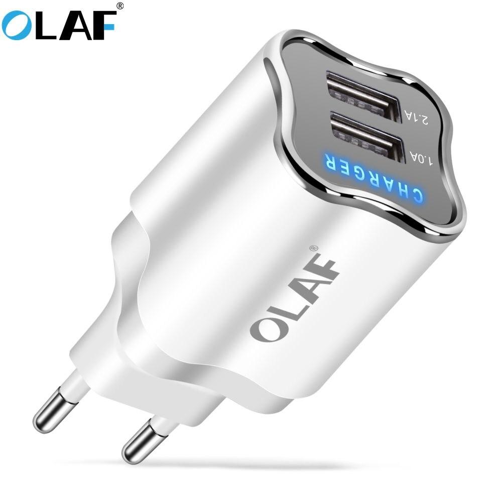2 Port USB Charger 5V 2.1A EU/US Plug Portable Wall Adapter Mobile Phon