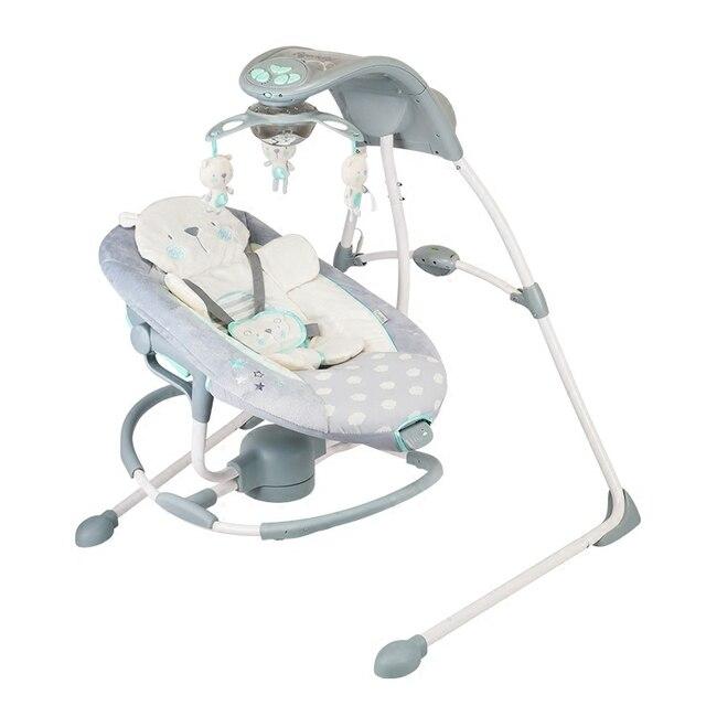 Baby Elektrische Schommelstoel.Us 348 0 Multifunctionele Babybed Swing Stoel Elektrische Schommelstoel Comfort Babybed Met Roterende Bed Moible Projectie In Multifunctionele