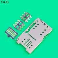 YuXi Tomada Conector do Leitor de Cartão SIM Tray Titular Slot Peças de Reposição Para Meizu M5 Nota/M5 Mini/M5 /M5S