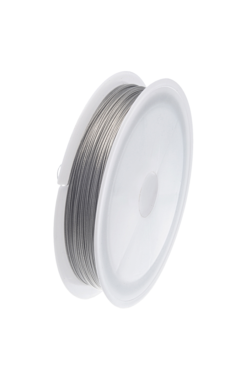 1 Roll 30M Silver Tone Beading Wire 0.6MM