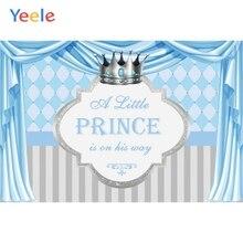 Newborn Baby Shower Kids Birthday Party Pink Blue Gold Crown Curtain Princess Backdrop Custom Vinyl Background For Photo Studio